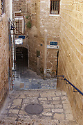 Israel, Jaffa, an alleyway in the old city of Jaffa