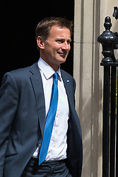Downing Street, London, June 16th 2015. Health Secretary Jeremy Hunt leaves 10 Downing Street following the weekly cabinet meeting.