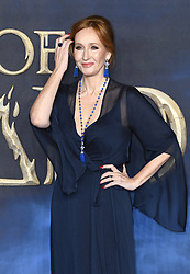JK Rowling attending the Fantastic Beasts: The Crimes of Grindelwald UK premiere held at Leicester Square, London. Photo credit should read: Doug Peters/EMPICS