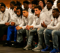 Michigan and Florida players and coaches visit the Ebenezer Baptist Church on Thursday, December 27, 2018 in Atlanta. Florida will face Michigan in the 2018 Peach Bowl on December 29, 2018. (Jason Parkhurst via Abell Images for the Chick-fil-A Peach Bowl)