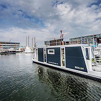 Nederland, Amsterdam, 26 augustus 2016.<br /> Hiswa te water.<br /> De HISWA te water vindt van 30 augustus tot en met 4 september plaats in de Amsterdam Marina op de NDSM-werf. De grootste in- water bootshow van Noord-Europa toont 300 boten, honderden watersportartikelen en heeft een activiteitenprogramma voor jong en oud.  Aan de HISWA te water nemen dit jaar circa 60 boten en productprimeurs deel. De beurs telt de meeste primeurs sinds 2012.<br /> <br /> Netherlands, Amsterdam, August 26, 2016. <br /> HISWA in-water.The HISWA in-water takes place from 30 August to 4 September in Amsterdam Marina at the NDSM-shipyard. The largest in-water boat show in Northern Europe shows 300 boats, hundreds of water sports and has a program of activities for young and old. <br /> <br /> Want to buy a boat? Want to orientate on the latest models? Discover the latest trends in (inter)national yachts? Get tips from professionals? Meet the watersports? Visit the most complete in-water boatshow in Northern Europe at the NDSM shipyard. There are 300 brand new boats of 5-25 meters on the jetties and on the quay a wide range of nautical products. And on the water many exciting activities. Source: hiswatewater.nl<br /> <br /> <br /> Foto: Jean-Pierre Jans