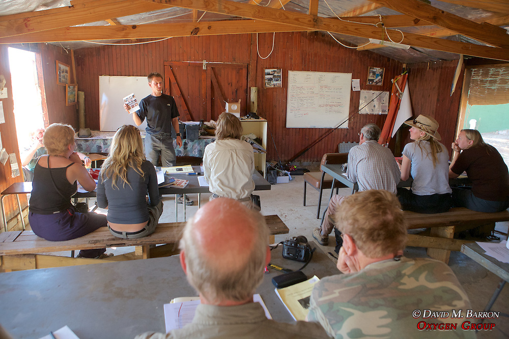 Richard Yarnell Teaching Earthwatchers