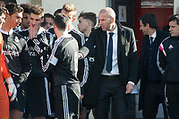 Real Madrid Castilla´s  coach Zinedine Zidane during 2014-15 Spanish Second Division B match between Trival Valderas and Real Madrid Castilla at La Canaleja stadium in Alcorcon, Madrid, Spain. February 01, 2015. (ALTERPHOTOS/Luis Fernandez)
