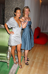 Left to right, JADE JAGGER and LADY HELEN TAYLOR at party in aid of cancer charity Clic Sargent held at the Sanderson Hotel, Berners Street, London on 4th July 2005.<br /><br />NON EXCLUSIVE - WORLD RIGHTS