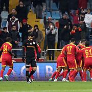 Galatasaray's Yasin Oztekin (L) during their Turkish Super League soccer match Kayserispor between Galatasaray at the Kadir Has Stadium in Kayseri Turkey on Sunday 27 December 2015. Photo by Kurtulus YILMAZ/TURKPIX