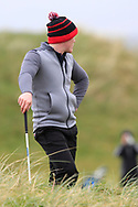 Josh Mackin (Dundalk) watching the play on the 18th during Round 3 of the Ulster Boys Championship at Donegal Golf Club, Murvagh, Donegal, Co Donegal on Friday 26th April 2019.<br /> Picture:  Thos Caffrey / www.golffile.ie
