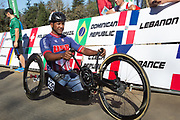 during the Road Race on Day 3 of the 2017 UCI Para-cycling Road World Championships held at Alexandra Park Pietermaritzburg, South Africa, on Saturday 2 September 2017. Image by Greg Beadle