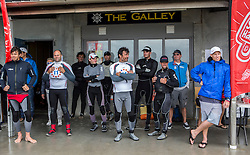 Competitors meeting. Day 4 of the McDougall + McConaghy 2015 Moth Worlds, Sailing Anarchy and Sperry Top-Sider Moth Worlds coverage 2015, Sorrento, Australia. January 11th 2015. Photo © Sander van der Borch.
