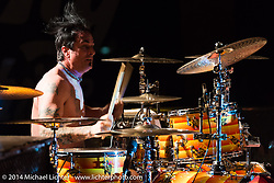 Chris Worley on drums during the Jackyl free concert at Destination Daytona during Biketoberfest, Ormond Beach, FL, October 18, 2014, photographed by Michael Lichter. ©2014 Michael Lichter