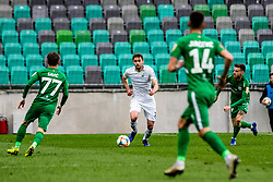 Josip Tomasevic of NK Rudar Velenje vs Savic Stefan of NK Olimpija Ljubljana during football match between NK Olimpija Ljubljana and NK Rudar Velenje in 25rd Round of Prva liga Telekom Slovenije 2018/19, on April 7th, 2019 in Stadium Stozice, Slovenia Photo by Matic Ritonja / Sportida