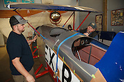 Kyle and Tim restoring Great Lakes NX315Y formerly flown by Dorothy Hester and Tex Rankin. This was while Kyle and Tim were still working together at Ragwood Refactory. The plane is owned by Oregon Aviation Historical Society.