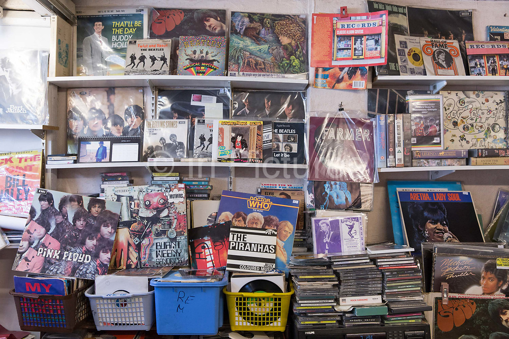 Records, an independent record shop in Lewisham on the 4th May 2018 in South London in the United Kingdom.