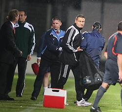 Eddie May, manager, at the end.<br /> Vaduz 2 v 0 Falkirk FC at the Rheinpark Stadium for their Europa League second-round qualifier against Vaduz in Liechtenstein.<br /> ©2009 Michael Schofield. All Rights Reserved.