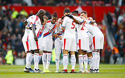 Crystal Palace players in a huddle