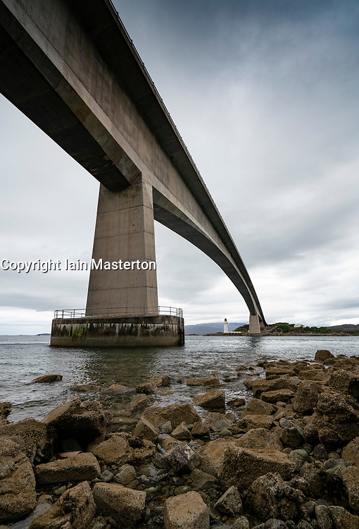View of Skye bridge linking mainland to Isle of Skye, Scotland, UK