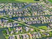 Nederland,Zuid-Holland, Rotterdam; 14–05-2020; stadsdeel Prins Alexander, Vinex-wijk Nesselande. Waterwijk met zelfbouwkavels waarop naar eigen ontwerp en welstandsvrij een woning kan worden gebouwd. Andries Fyandijk.<br /> Prince Alexander district, Nesselande neighborhood. Waterwijk with self-build plots .<br /> <br /> luchtfoto (toeslag op standaard tarieven);<br /> aerial photo (additional fee required)<br /> copyright © 2020 foto/photo Siebe Swart