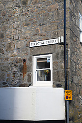 Teototal Street sign, St Ives, Cornwall UK