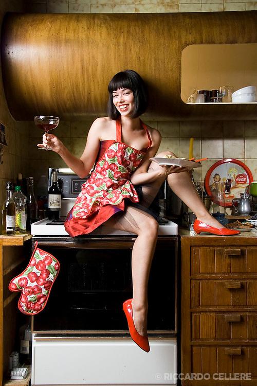 Portrait photography. Cora Kim, Vocalist. 2007.