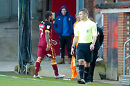Bradford City midfielder Sean Scannell (7) is sent off and receives a red card  during the EFL Sky Bet League 1 match between Bradford City and Sunderland at the Northern Commercials Stadium, Bradford, England on 6 October 2018.