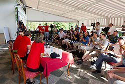 Press Conference at Anze's Eleven and Triglav Charity Golf Tournament, on June 30, 2012 in Golf court Bled, Slovenia. (Photo by Matic Klansek Velej / Sportida)