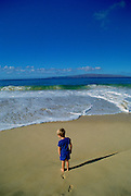 Child on Beach, Makena, MauiHawaii<br />