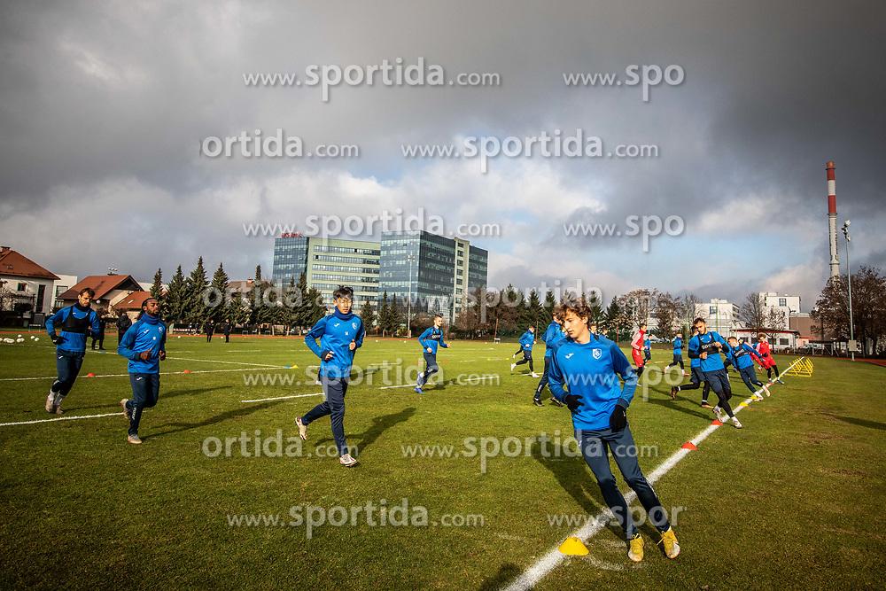 Zan Trontelj during first practice session of NK Bravo before the spring season of Prva liga Telekom Slovenije 2020/21, on January 5, 2021 in Sports park ZAK, Ljubljana Slovenia. Photo by Vid Ponikvar / Sportida