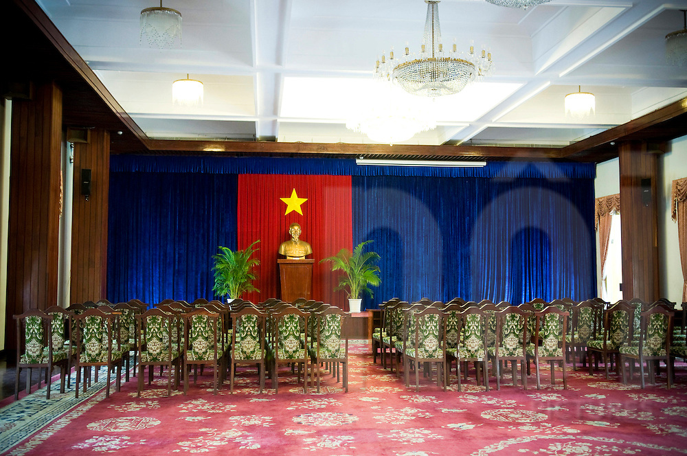 Reception room of Reunification palace in Ho Chi Minh city, Vietnam, Southeast Asia
