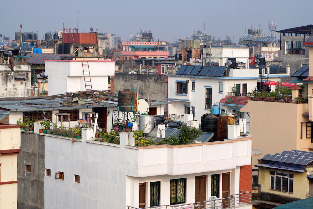 Rooftops in Kathmandu, Nepal.