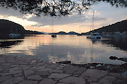 Croatia, Adriatic Sea, Mljet Island at sunrise