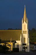 Sunlight on Church steeple in Ferndale, California