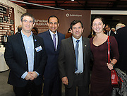 Pictured at the Holiday World Show Ambassador Reception was from left to right: Diego Sadofschi Embassy of Argetina, Eduardo Rea Embassy of Mexico Marcelo Martin Embassy of Argetina and Ana Lominadze Embassy of Georgia.<br />Photograph: Aidan Crawley