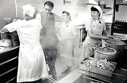 Commercial kitchen, UK 1995