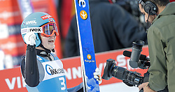 30.01.2016, Normal Hill Indiviual, Oberstdorf, GER, FIS Weltcup Ski Sprung Ladis, Bewerb, im Bild Agnes Reisch (GER) // Agnes Reisch of Germany reacts after her Competition Jump of FIS Ski Jumping World Cup Ladis at the Normal Hill Indiviual, Oberstdorf, Germany on 2016/01/30. EXPA Pictures © 2016, PhotoCredit: EXPA/ Peter Rinderer