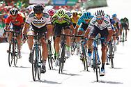 Peter Sagan (SVK - Bora - Hansgrohe), Alejandro Valverde (ESP - Movistar)during the UCI World Tour, Tour of Spain (Vuelta) 2018, Stage 7, Puerto Lumbreras - Pozo Alcon 185,7 km in Spain, on August 31th, 2018 - Photo Luca Bettini / BettiniPhoto / ProSportsImages / DPPI