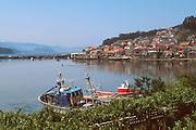 SPAIN, GALICIA, RIAS BAJAS Combarro, a fishing port on the Ria de Pontevedra west of the city of Pontevedra