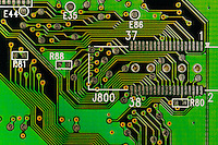 Circuit board detail.