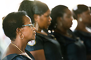 Led by Bishop Emmanuel Makala, seven new deaconesses, including Edna Shoo, are commissioned in a service with more than 1,000 worshippers on Sunday, March 15, 2015, at the Evangelical Lutheran Church in Tanzania – South-East of Lake Victoria Diocese's (ELCT-SELVD) Ebenezer Cathedral in Shinyanga, Tanzania. LCMS Communications/Erik M. Lunsford