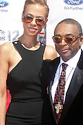 June 30, 2012-Los Angeles, CA : (L-R) Author/Television Producer Tonya Lewis Lee and Actor/Director Spike Lee attends the 2012 BET Awards held at the Shrine Auditorium on July 1, 2012 in Los Angeles. The BET Awards were established in 2001 by the Black Entertainment Television network to celebrate African Americans and other minorities in music, acting, sports, and other fields of entertainment over the past year. The awards are presented annually, and they are broadcast live on BET. (Photo by Terrence Jennings)