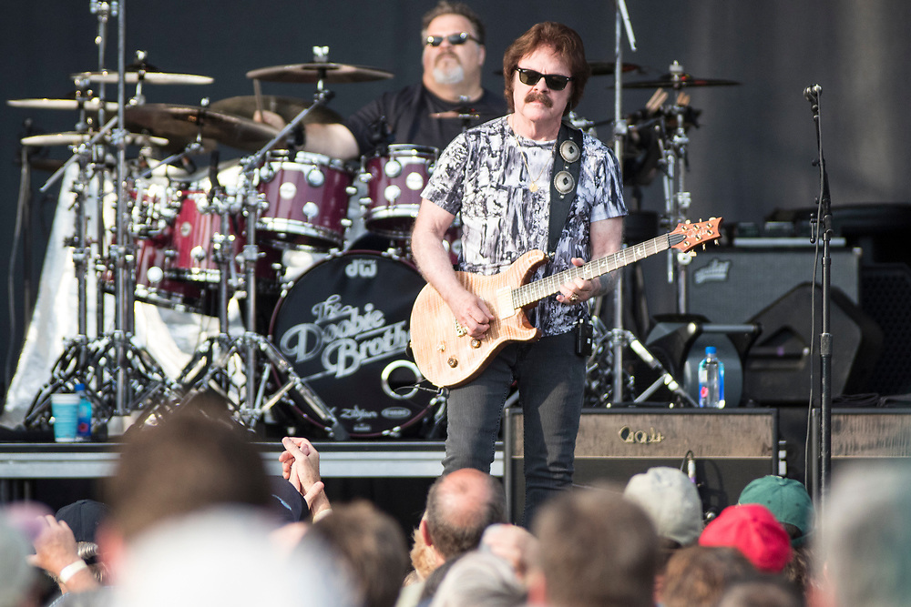 The Doobie Brothers perform at the Breese Stevens Field in Madison, WI on June 16, 2018.