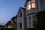 Edwardian-era homes in a residential south London street in early evening, 7th August 2020, in Lambeth, London, England.
