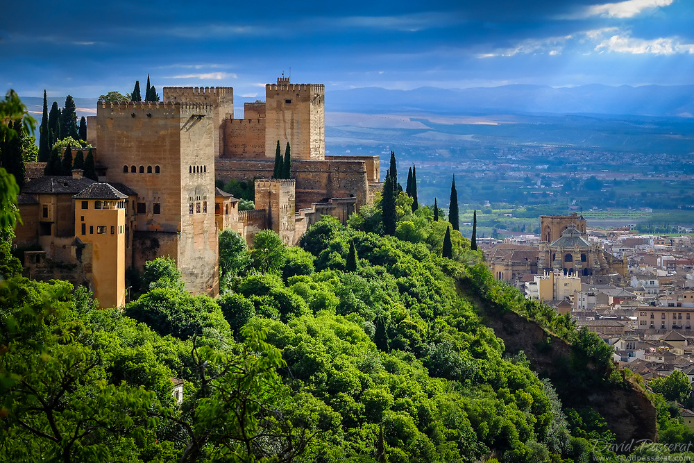 The Alhambra overlooking the cty and the cathedral.