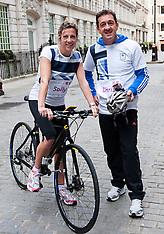 Sally Gunnell and cyclist Chris Boardman