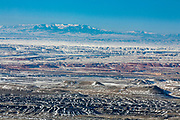 Bighorn Basin of Wyoming during winter