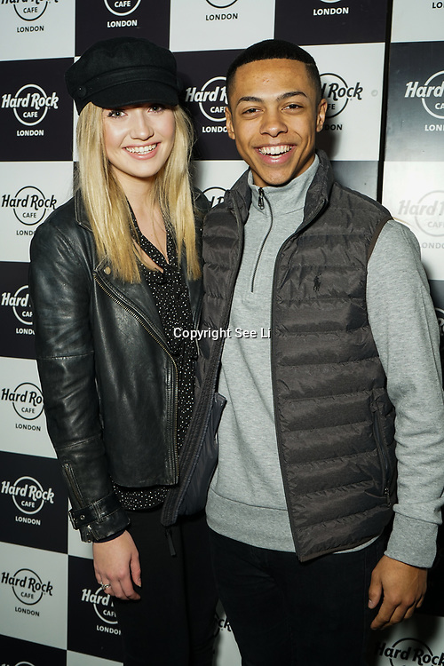Hard Rock Cafe London, England, UK. 4th Dec 2017. Tilly Keeper, Zack Morris Arrivals at Fight For Life Charity Event of Christmas festivities and entertainment for children with cancer.