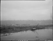 "Ackroyd 11486-1 ""Port of Portland. Fill & dredge operation west of Western Feed, Swan Island. January 24, 1963"" (Shows Swan Island Channel and Mocks Bottom)"