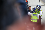 Police clash with Black Lives Matter protestors nearby the Foreign and Comonwealth Office in central London on Sunday, Jun 7, 2020, during a rally to protest against the killing of George Floyd by police officers in Minneapolis, USA. Floyd, a black man, died after he was restrained by Minneapolis police while in custody on May 25 in Minnesota. (Photo/ Vudi Xhymshiti)