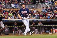 Justin Morneau #33 of the Minnesota Twins reacts to a pitch during a game against the Boston Red Sox on May 17, 2013 at Target Field in Minneapolis, Minnesota.  The Red Sox defeated the Twins 3 to 2.  Photo: Ben Krause