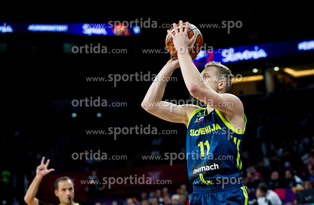 Jaka Blazic of Slovenia during basketball match between National Teams of Slovenia and Spain at Day 15 in Semifinal of the FIBA EuroBasket 2017 at Sinan Erdem Dome in Istanbul, Turkey on September 14, 2017. Photo by Vid Ponikvar / Sportida