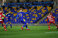 GOAL 1-0 during the EFL Sky Bet League 1 match between AFC Wimbledon and Doncaster Rovers at Plough Lane, London, United Kingdom on 3 November 2020. The first League match at the new stadium.