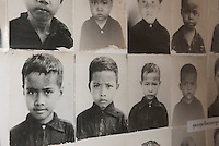 Images of child prisoners at Tuol Sleng Genocide Museum, Phnom Penh, Cambodia
